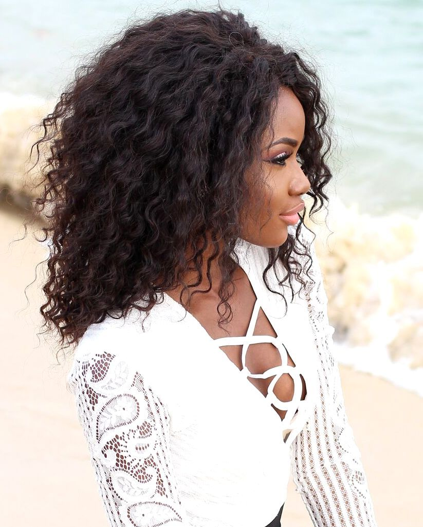Hair Breakdown: Aliexpress MaxGlam Brazilian Deepwave Curly Virgin Hair - Billykiss Azeez - Your Favourite Muse