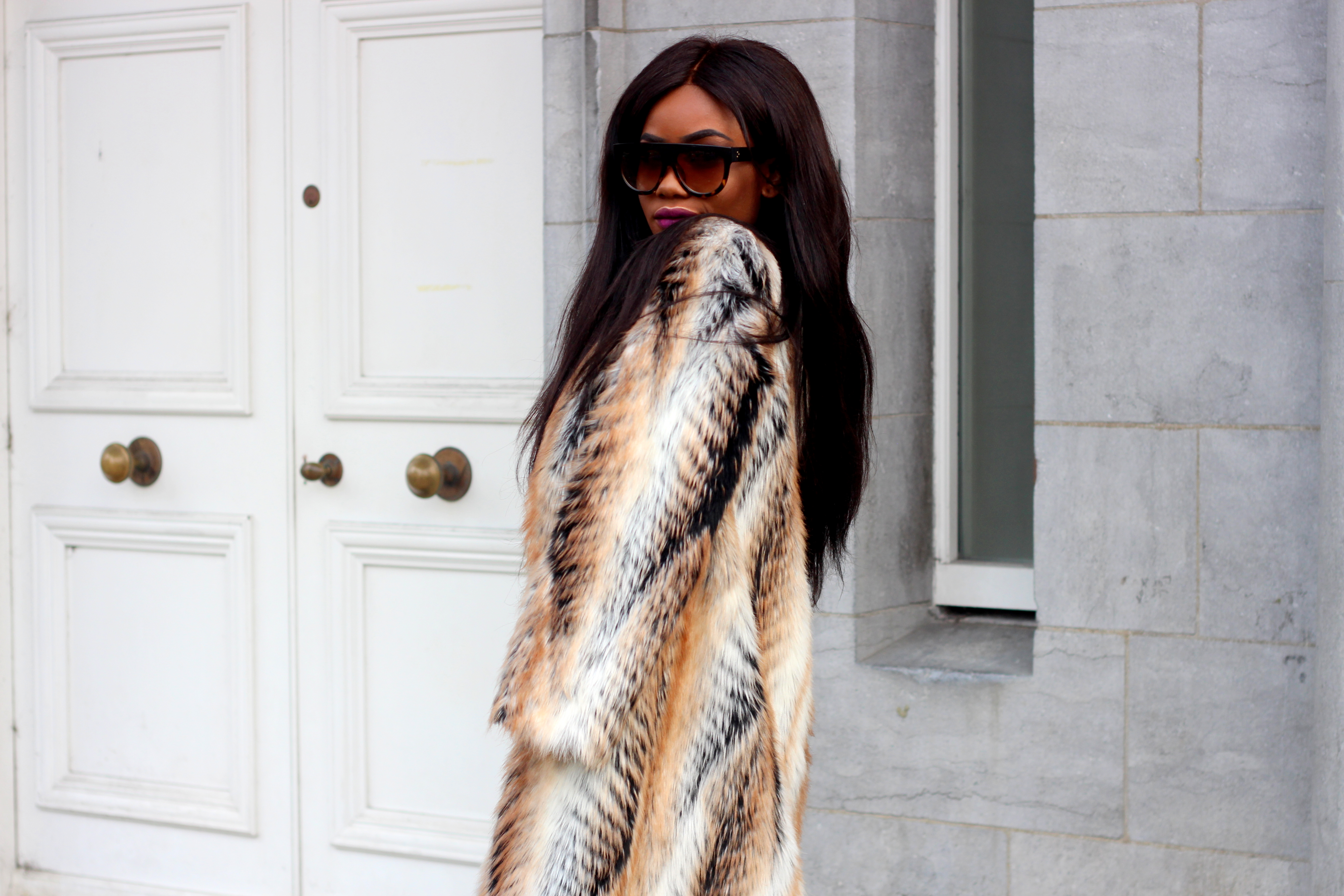 Billykiss Azeez. Your Favourite Muse. Fashion Irish Blogger. African Blogger. Street style. Asos Faux Fur Coat. H&M Denim Jeans. Aliexpress off shoulder top and choker. Ego ankle boots. Winter Style. High Fashion. A/W 16.