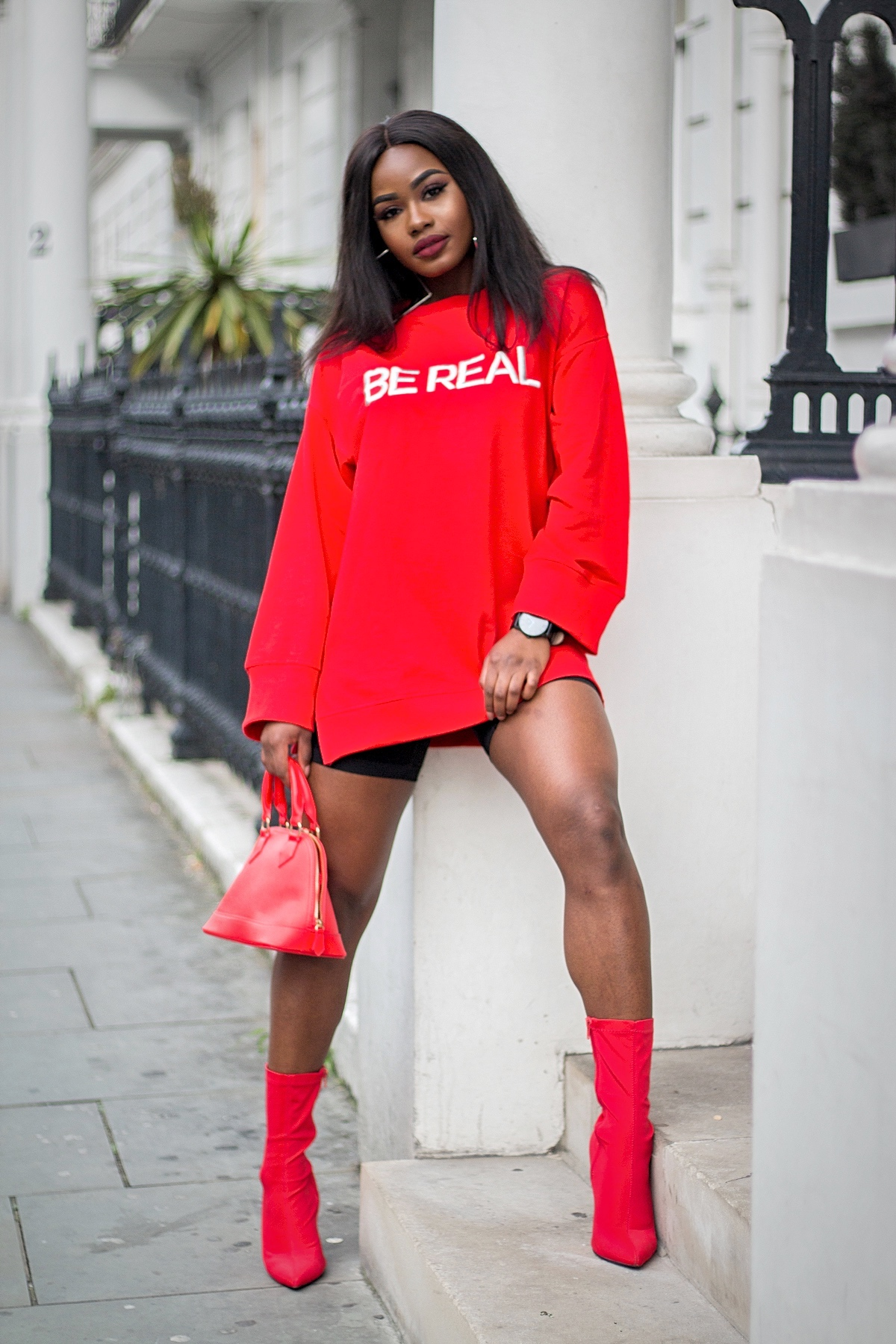 Billykiss Azeez. Your Favourite Muse. Fashion Irish Blogger. African Blogger. AW17. Bershka. Boohoo. LordTimepeice. Winter style. Red. Bershkastyle.